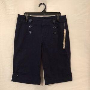 NWT BeBop Juniors 9 Bermuda Shorts Blue
